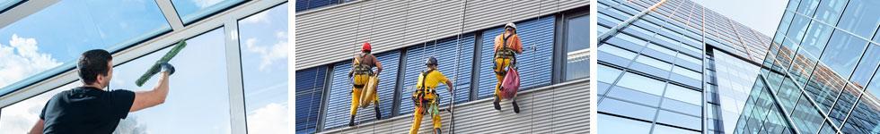 Reinigung von Glasflächen, Fenstern und Fassaden